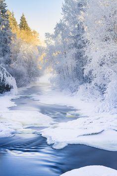 Photograph Winter river by Ilari Lehtinen