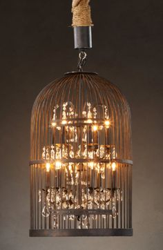 Birdcage Chandelier by Restoration Hardware