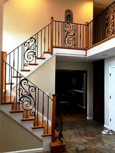 wrought iron railings | Wrought iron railings for indoor ...