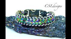 Embellished snake skin wrap bracelet