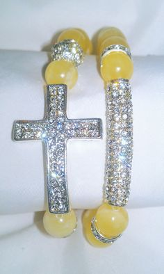 N'Genious Creations - GEMSTONE 2PC BRACELET SET IN SILVER TONE (VARIOUS GEMSTONES), $35.00 (http://www.ngeniouscreations.com/gemstone-bracelet-set-in-silver-tone-various-gemstones/)
