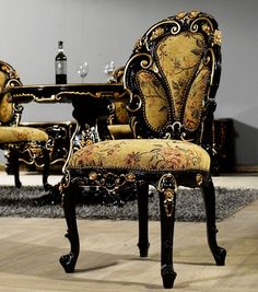 Black Baroque Dining Chair