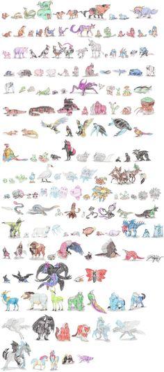 Non-Arthropod Invertebrate Pokemon by DragonlordRynn on DeviantArt Pokemon Na Vida Real, Pokemon In Real Life, Pokemon Sun, Pokemon Fusion, Hunter Pokemon, Pokemon Sketch, Pokemon Pictures, Geek Culture, Anime