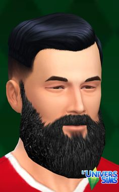 Long beards by Tigerone35 at L'UniverSims • Sims 4 Updates