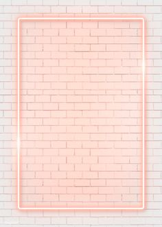 Rectangle orange neon frame on an orange brick wall vector premium image by manotang Framed Wallpaper, Pink Wallpaper Iphone, Iphone Background Wallpaper, Pastel Wallpaper, Tumblr Wallpaper, Aesthetic Iphone Wallpaper, Screen Wallpaper, Aesthetic Wallpapers, Orange Brick Wallpaper