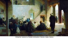 Among the Teachers by Wassilij Dimitriewitsch Polenow (Vasiliy Polenov)