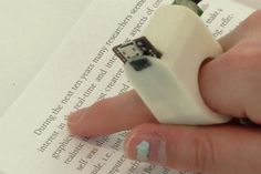 This Ring Analyzes Words on the Page and Reads Them for the User