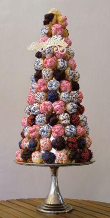 Colourful Croquembouche #food #cake #wedding