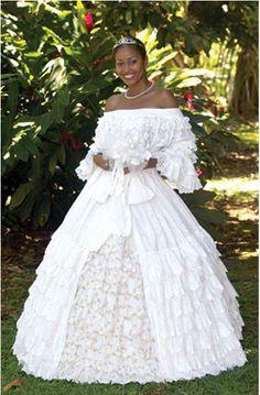 Gran'robe, robe de mariée blanche créole