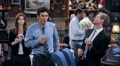 how i met your mother scenes   How I Met Your Mother - Barney Lily Ted Bar Scene