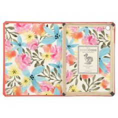 Paradise Pattern iPad Case #tropical #hawaiian #floral #neon #bright #flower #flowers #floral #cases #covers #cover