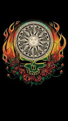 Grateful Dead Compass Flames