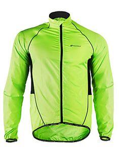 e701f217ddbb   19.99  Nuckily Men s Cycling Jacket Bike Jacket Windbreaker Raincoat  Waterproof Windproof Breathable Sports Polyester Winter Green Mountain Bike  MTB Road ...