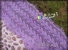 Красивый узор для палантина или шарфа