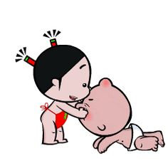 Foto animada Cute Couple Cartoon, Cute Cartoon Characters, Cute Cartoon Pictures, Cartoon Gifs, Gif Pictures, Cute Love Pictures, Cute Love Gif, Snoopy Happy Dance, Little Girl Illustrations
