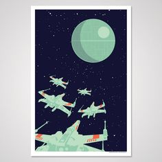 Etsy の Rogue Squadron 12x18 Art Print by AndrewHeath
