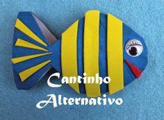 Cantinho Alternativo: Peixe de tubo de papel higiênico fácil de fazer