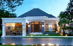 New ideas for house design plans mansions House Arch Design, Village House Design, Small House Design, Modern House Design, Style Villa, Fachada Colonial, Modern Bungalow House, House Design Pictures, Latest House Designs