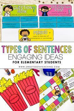 Types of Sentences Activities 2nd-3rd Grade