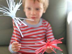 DIY Paper Sparklers by momtastic #Paper_Sparklers #Fourth_of_July #momtastic