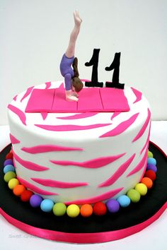Gymnastics Cake Gymnastics Birthday Cake With Ombre Purple - 11th birthday cake ideas
