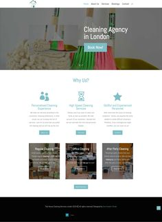 Web Design Desktop - Website for cleaning services 🧹 in London 🇬🇧. House Cleaning Services, Layout Design, Web Design, Speed Cleaning, Accent Colors, Shades Of Green, Clean House, This Is Us
