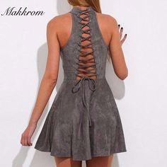 A-Line Backless Empire Halter Mini Dress | A-Line Backless Empire Halter Mini DressSilhouette: A-LineNeckline: HalterSleeve Length: Sleeveless | Primary View | Sassy Posh