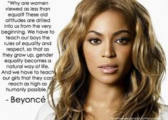 """feminismwecandoit: """" """"I'm sad that my desire to be treated as an equal and as a human being is interpreted as hatred of men, rather than a request to be included and respected."""" - Claire Boucher,..."""