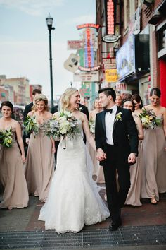 Bridal Party Portrait Downtown Nashville From Kristyn Hogan | photography by http://www.kristynhogan.com/