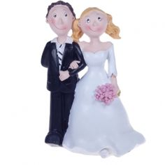 Comical Cake Topper Standing Couple This comical fun cake topper has the bride and groom arm in arm Approx size - height width depth Material - resin Amazing Cakes, Decorative Accessories, Cake Toppers, Resin, Groom, Weddings, Bride, Comics, Disney Princess