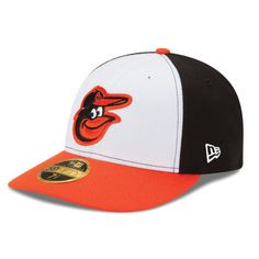 Men's Baltimore Orioles New Era White/Orange Home Authentic Collection On-Field Low Profile 59FIFTY Fitted Hat