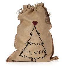 """Wenn es mal etwas größere Geschenken sein sollten, dannn eignet sich unser Jutesack mit weihnachtlichem Motiv und zauberhafter Aufschrift """"Da steckt Liebe drin"""" bestens. #Geschenkefinder #Geschenkverpackung #XMAS #Impressionenversand"""