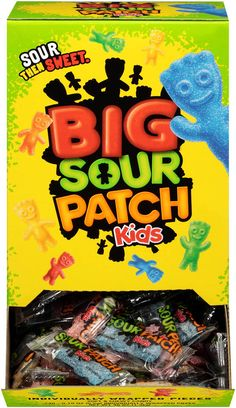 Sour Patch Kids Sweet and Sour Gummy Candy - Easter Basket Stuffers, Original, Individually Wrapped 240 Count - List for Home and Garden Products Soft Candy, Chewy Candy, Halloween Cookies, Halloween Candy, Amelie, Individually Wrapped Candy, Kids Net, Food Gift Baskets, Sour Patch Kids