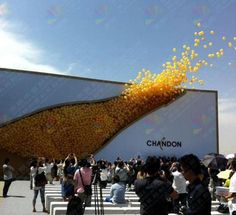 Great Ambient Marketing - Balloons released into the air - Chandon Creative Advertising, Guerrilla Advertising, Advertising Campaign, Advertising Design, Marketing And Advertising, Product Advertising, Free Advertising, Street Marketing, Guerilla Marketing