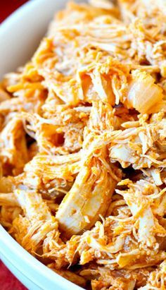 Slow cooker Pulled Buffalo Chicken