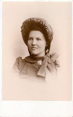 +~+~ Antique Photograph ~+~+  Woman dressed for The Salvation Army