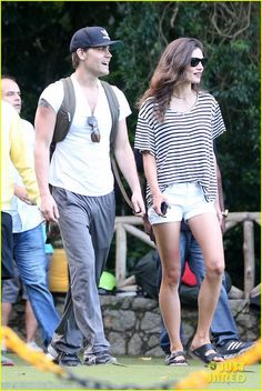 Paul Wesley and Phoebe Tonkin in Brazil