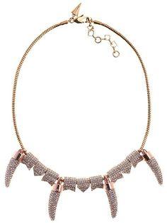 Rebecca Minkoff Pave Horn Necklace | Rebecca Minkoff Online Store