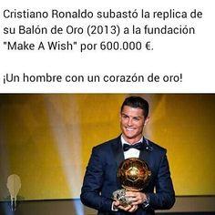 Todo un crack dentro y fuera del campo! @cristiano  -  #Crack #CorazonDeOro #TheBest #Donacion #CristianOROnaldo #RealMadrid #HalaMadrid