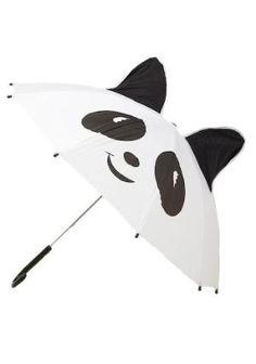 Panda-monium Umbrella   Mod Retro Vintage Umbrellas   ModCloth.com