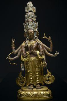A large copper figure of Bodhisattva Avalokitesvara China/Tibet, 18th century