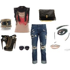 Punk Chic...and totally loving the fabulousness of this outfit