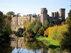 Warwick Castle is a medieval castle in Warwick, the county town of Warwickshire, England. It sits on the bend on the River Avon. The castle was built by William the Conqueror in 1068 within or adjacent to the Ango-Saxon burh of Warwick.