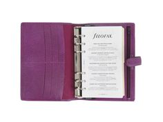 Amazon.com : Filofax Finsbury Leather Personal Raspberry Organizer Agenda Diary Calendar 025305 with Free Jot Pad refill : Office Products