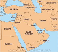 103 Best Maps of the Middle East & North Africa images   Middle East ...