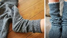 Recycle an Old Sweater Into a Pair of Cozy Slipper-Socks (DIY Tutorial) Old Sweater, Sweater Boots, Sweater Mittens, Pullover Upcycling, Alter Pullover, Diy Clothes Refashion, Diy Fashion Accessories, Diy Clothes Videos, Recycled Sweaters