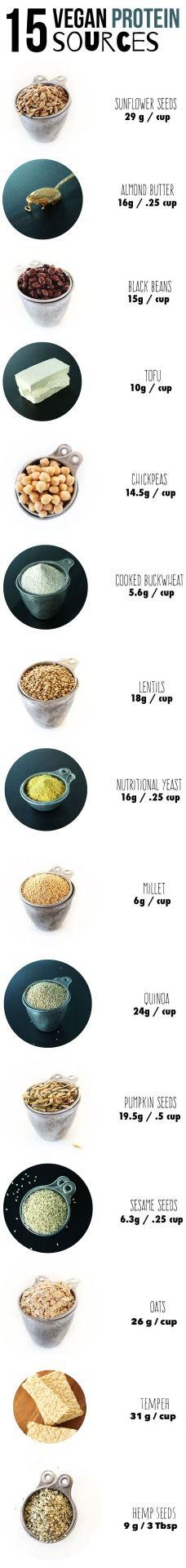 15 vegan protein sources.