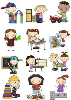 Kids Clipart, Drawing Cartoon Faces, Cartoon Sketches, Stick Figure Drawing, Drawing Lessons For Kids, Kids Graphics, School Murals, Kids Background, School Labels