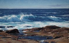 """Beach Pools"" by Matt Smith Oil ~ 14"" x 22"""