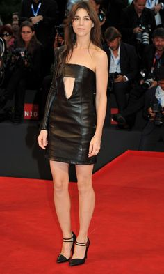 Charlotte Gainsbourg Turns Heads In A Daring Leather Dress